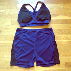 Adore Me sports bra and short set size L and XL